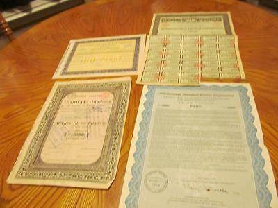 4 World   Bonds /   Stock Certificates; All Different;lot # C
