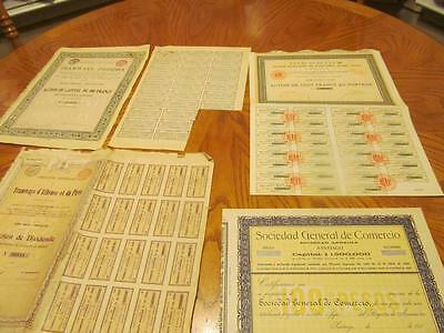 4 World   Bonds /   Stock Certificates; All Different;lot # E