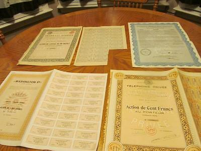 4 World   Bonds /   Stock Certificates; All Different;lot # M