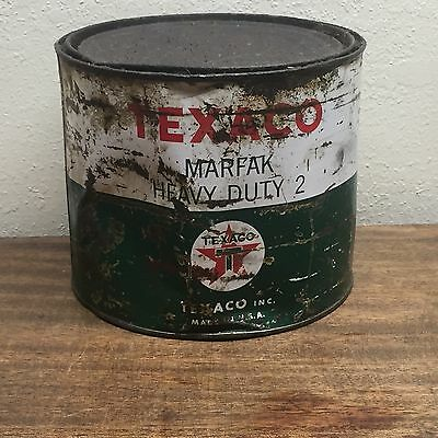 Texaco grease can motor oil gas station marfak-HD-2 ~Service Station Collectible