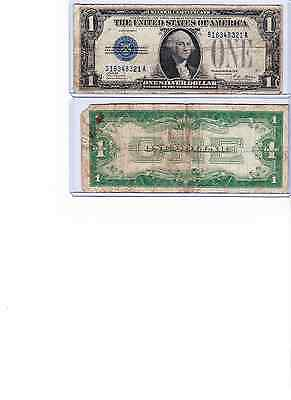 1928A One Dollar High Circulation Silver Certificate Blue Seal Note sold as each