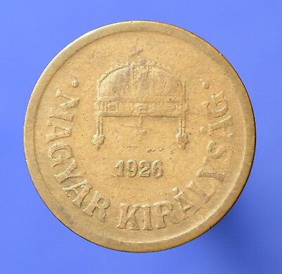 HUNG1 Hungary Coins: 1926 Bronze 2 Filler - KM# 506