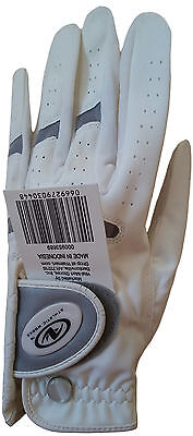 NEW Athletic Works Performance Left Hand Golf Glove Womens Size L - White W582