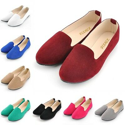 Women Flat Ballet Shoes Slip On Flats Boat Single Shoes Colorful Casual Loafers