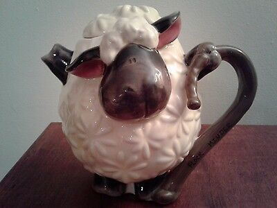 Blue Sky Clayworks Lamb Sheep Flock Minder Teapot by Heather Goldminc NWT