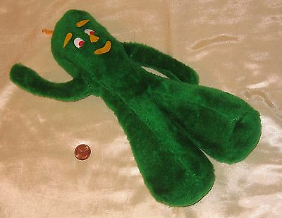 """A Vintage 11"""" Tall Gumby Plush; By Prima Toy/Ace Novelty 1988."""