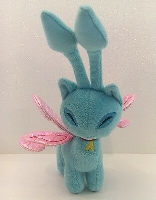 Neopets Blue Aisha Plush 08 Sparkle Pink Wings Crinkle Fairy Stuffed Toy Faerie