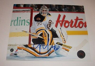 TIM THOMAS - Signed Boston Bruins 8x10 Photo Autographed In-Person Authentic