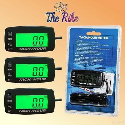 3x Tach Hour Meter Tachometer RPM Display Motorcycle ATV Dirtbike Buggy Outboard