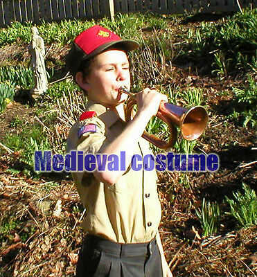 BUGLE BRASS with COPPER Vintage Military Signal Trumpet Bugle Instrument