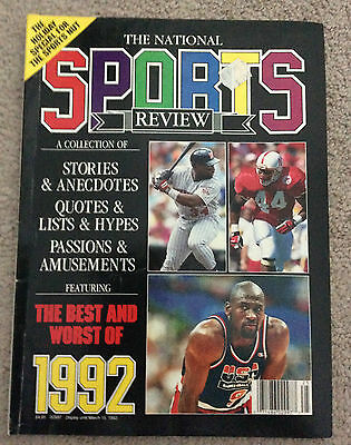 THE NATIONAL SPORTS REVIEW Magazine 1992 The Best And Worst Of Great Condition