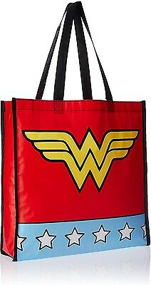 Wonder Woman Star Print With Logo Red Shopping Bag  - BRAND NEW
