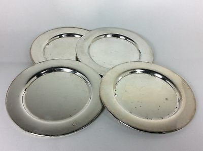 "Set Of 4 Oneida Silversmiths Silver Plated 6"" Small Charger Saucer Plate Dish"
