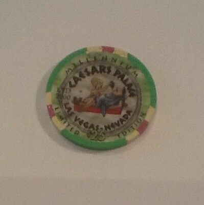 $25. Limited Edition (2000) Millennium Gaming Chip From Iconic Caesars Palace Lv