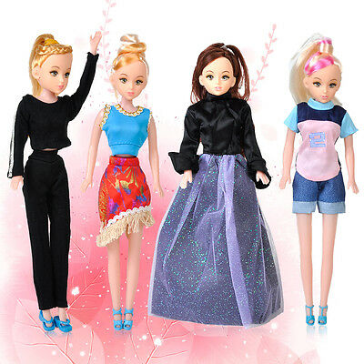 5set Dress/Blouse/Jacket/Trousers Fashion Casual Clothes Outfits For Barbie Doll