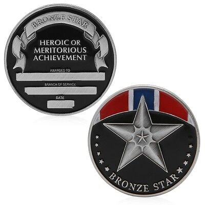 The Bronze Star Medal Commemorative Challenge Coin Token Souvenirs Collection