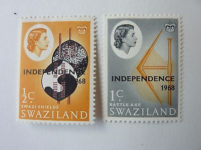 244]  Swaziland Stamps  - Independence 1968  --  Sg 142 / 143  -  M/m