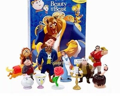 Disney Beauty and the Beast My Busy Books Set Pack 12 Figures & Playmat