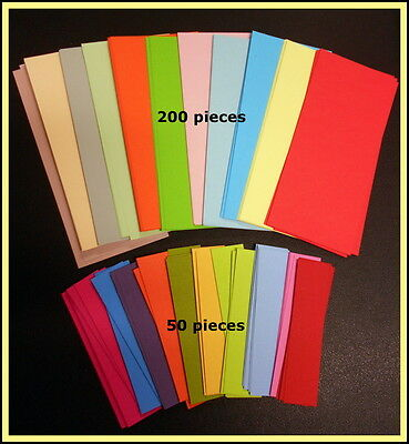 SCRAPBOOKING/CARDMAKING PACK- 200 Papers 14cm x 6.5cm  - 50 Cardstock 9cm x 2cm