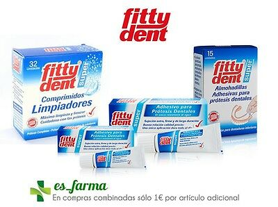 Fittydent Super Paste Adhesive Denture Prosthesis Cleaner Pads Dental