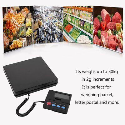 Smart Weigh Digital Shipping Postal Scale, 50kg / 2g Capacity, Extendable Cord D