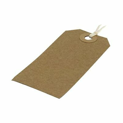 Strung Tag 82x41mm Buff (Pack of 1000) KF01597 [KF01597]