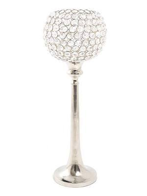 5 x 80cm Crystal Globe Candelabra Wedding Table Centrepiece Silver