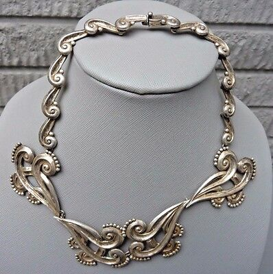 Vintage Sterling Silver Signed MARGOT DE TAXCO Mexico 5161 Necklace ASSAY 16