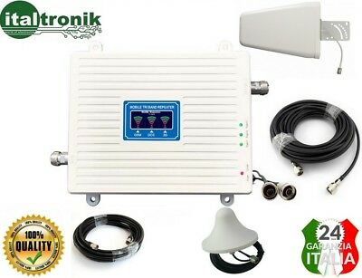 KIT AMPLIFICATORE RIPETITORE GSM / UMTS / 3G TRI BAND 900 - 1800 - 2100 Mhz