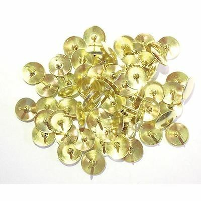Brass 11mm Drawing Pins Pack of 1000 34241 [WS26320]