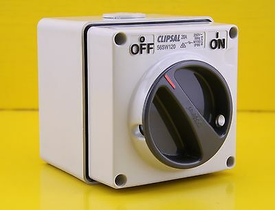 Clipsal 56SW120 Surface Mount Switch Isolator 1 Pole 1P 20A 250V IP66 ON OFF