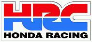 HRC Racing Patch badge sew or glue on for motorcycle jackets and leathers.