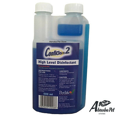 PETLIFE Conficlean2 Concentrated High Level Disinfectant Disinfects Whelping Box