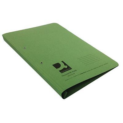 Q-Connect Foolscap/A4 35mm Capacity Green Transfer File (Pack of 25) [KF26060]