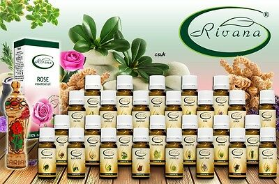 RIVANA 100% Natural Essential Oils all kinds Ginger Thyme Pepermint Tea Tree