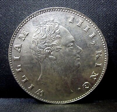 1835 India 1 Rupee ✪ Au Almost Uncirculated ✪ Km-450 East Company ◢Trusted◣
