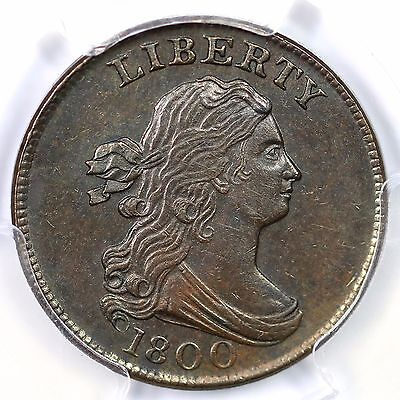 1800 PCGS MS 61 BN Draped Bust Half Cent Coin 1/2c