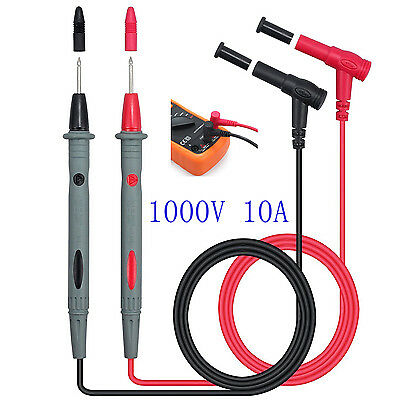 Universal 1000V 10A Test Probes Pen Multi Meter Leads Test Cable Voltage Pen