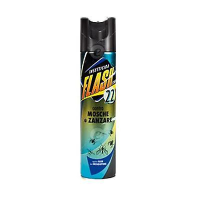 FLASH 22 Spray Insetticida Profumato Contro Mosche Zanzare Uso domestico 250 ml