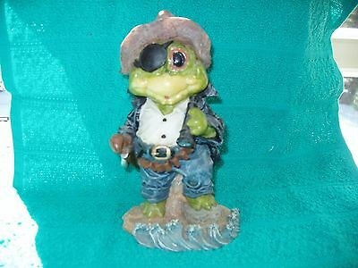 Happenin' Hoppers One Eyed Jack The Fearless Frog Pirate Resin Statue