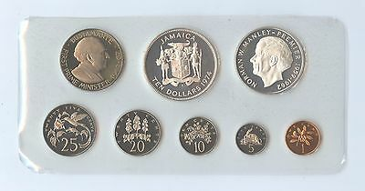 Jamaica 1974 8 Piece Proof Set (#1076) Complete with all Paperwork.