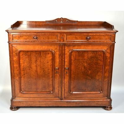 Superb ROYAL! Antique French Napoleon III Mouchette Mahogany Buffet Sideboard