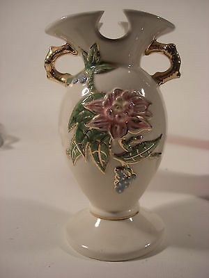 "Vintage Vase Hull W4-6 1/2"" USA Gold Trim"
