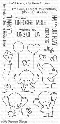 My Favorite Things - Clear Stamp - BB Adorable Elephants