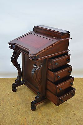 Antique Reproduction Davenport, Bureau, Mahogany Witting Desk, Old Furniture