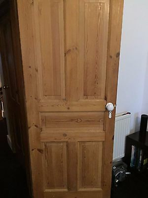 4 panel solid Victorian pine stripped doors  201cm x 81cm
