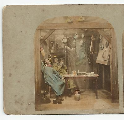 Stereo Stereoview Genre THE GHOST in the STEREOSCOPE London 1850er