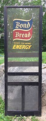 Vintage BOND BREAD Gives You More Energy Screen Door Kick Plate Sign Advertising