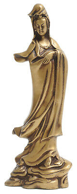 Berk Kuan Yin-statue Aus Messing, 22 Cm Messing NEU & OVP
