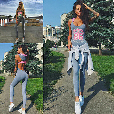 Women's Sports YOGA Workout Gym Fitness Leggings Pants Jumpsuit Rompers Athletic